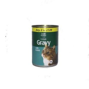 Hs Cuts in gravy with Rabbit Cat food Tin