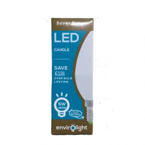 Envirolight 5W LED Candle Small Screw light bulb