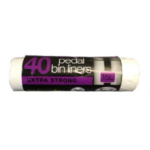 Tidy 3 40 Pedal Bin Liners Extra Strong 15L